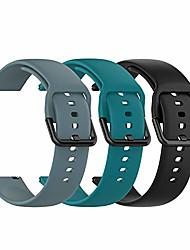 cheap -tencloud replacement wristband for garmin venu / venu sq wristband, 20 mm, soft silicone, sports wristband for vivoactive 3 music / forerunner 645/245 smartwatch (black + green + slate, large)