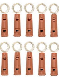 cheap -LED Wine Bottle String Lights 10pcs Creative Lipstick Cork Wine Bottle 2m 1m LED Lamp Battery Operated Mini String Lights for Wedding Christmas Holiday Party Bar