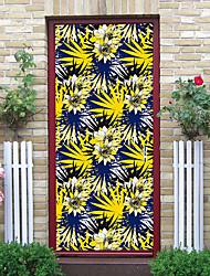 "cheap -2pcs Self-adhesive Creative Door Decals Diy Decorative Home Waterproof Wall Stickers For Living Room 30.3""x78.7""(77x200cm), 2 PCS Set"