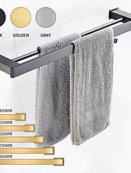 cheap -Towel Bar Multifunction Bathroom Shelf New Design Modern Aluminum Bathroom Double Rod Towel Rack Wall Mounted