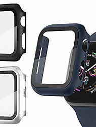 cheap -Smart watch Case [3 pack] apple watch case with screen protector for apple watch 38mm series 3/2/1 full hard cover ultra-thin bumper hd clear protective film scratch resistant for women men iwatch