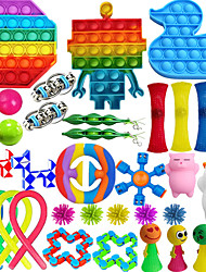 cheap -Scientoy Fidget Toy Set 36 Pcs Sensory Toy for ADD OCD Autistic Children Adults Anxiety Autism to Stress Relief and Anti Anxiety with Motion Timer Perfect