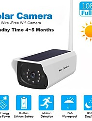 cheap -Solar cameras WiFi Security IP Outdoor 1080P HD Charging Battery Wireless Security Cameras PIR Motion Detection Bullet Surveillance CCTV