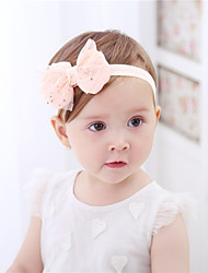 cheap -1pcs Toddler / Baby Girls' Active / Sweet Daily Wear Galaxy Bow Chiffon Hair Accessories Blushing Pink / Beige Kid onesize / Headbands