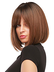 cheap -Roll over image to zoom in Short Blonde Wig for Women Natural Hair Synthetic Bob Wigs with Neat Bangs Daily Use