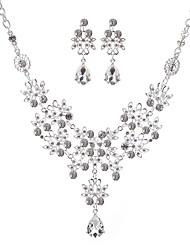 cheap -bridal jewelry set necklace two-piece alloy jewelry set