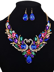 cheap -swan jewelry set diamond set short wild alloy necklace