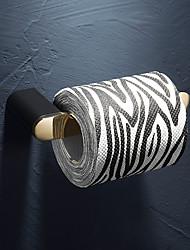 cheap -Brass Toilet Paper Towel Holder Bathroom Toilet Paper Shelf Black and Gold 1pc
