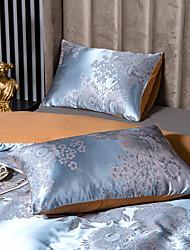 cheap -2 Pack 50*75cm Pillowcases/Pillow Shams Like Satin Silk Soft Luxury Plain/Solid Blue