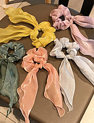cheap -Low-light Hairband Hair Accessories French Online Celebrity Large Intestine Circle Hair Rope Is Simple And Versatile INS Satin Hair Bands Tie Ponytail Rubber Bands