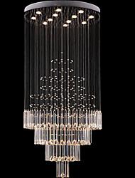 cheap -Crystal Chandelier LED Ceiling Pendant Light Modern Fashion Crystal Prism Chandelier Lighting 160cm Flush Mount Light Fixture for Home Hotel Restaurant Decoration