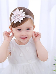 cheap -1pcs Baby Girls' Active / Sweet Daily Wear Floral / Solid Colored Floral Style Nylon Hair Accessories Blushing Pink / White Kid onesize / Headbands