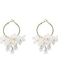 cheap -gbahfy tassel earrings trendy acrylic water drop women dangle earrings crystal flower long pendant earrings for women jewelry (crystal flower earring-white)