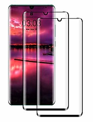 cheap -Phone Screen Protector For Huawei P30 Pro Tempered Glass 2 pcs High Definition (HD) 9H Hardness Explosion Proof Front Screen Protector Phone Accessory