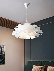 cheap -LED Pendant Light Modern White 55 cm Single Metal Living Room Dining Room Bedroom 110-240 V