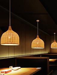 cheap -1-Light 30 cm Designers Pendant Light Metal Wood / Bamboo Chrome Chic & Modern 110-120V / 220-240V