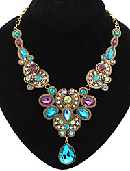 cheap -necklace fashion metal luxury sparkling gemstone dripping dripping necklace