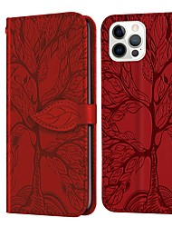 cheap -3D Pattern Flip Wallet Leather Case For iPhone 13 12 Pro Max 11 SE 2020 X XR XS Max 8 7 Magnetic Flip Folio Full Body Protective Cover with Card Slots Kickstand