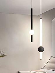 cheap -LED Pendant Light Modern Black Kitchen Island Light Bedside Light 9cm Lantern Desgin Metal Painted Finishes Modern 220-240V 110-120V