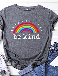 cheap -egelexy be kind t shirt women rainbow print graphic tees tops funny inspirational saying casual short sleeve tops shirts