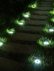 cheap -8pcs 1 W Lawn Lights Waterproof Decorative Light Control White 3.7 V Outdoor Lighting 4 LED Beads
