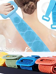 cheap -Magic Silicone Brushes with Self Adhesive Hook Bath Towels Rubbing Back Mud Peeling Body Massage Shower Extended Scrubber Skin Clean Brushes Bathroom