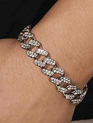 cheap -Cuban Link Bracelet Birthday Punk Alloy Bracelet Jewelry Silver For Gift