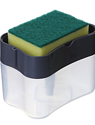 cheap -Multifunction Soap Dispenser Sponge Caddy Non-toxic Odorless Dispenser Kitchen Rack Creative Bathroom Washing Soap Storage Box