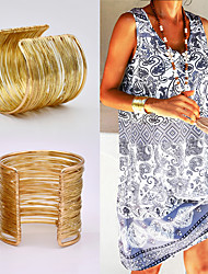 cheap -Women's Bracelet Bangles Retro Fashion Vintage Holiday Punk European Boho Alloy Bracelet Jewelry Gold For Gift Date Birthday Beach Festival