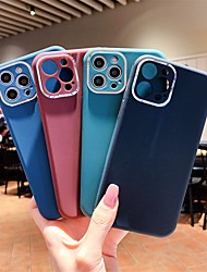 cheap -Phone Case For Apple Back Cover iPhone 12 Pro Max 11 Pro Max Shockproof Dustproof Solid Colored TPU