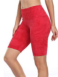 cheap -Women's High Waist Yoga Shorts Biker Shorts Side Pockets Shorts Bottoms Butt Lift Lightweight Color Gradient Fashion Dark Grey Cream Purple Yoga Fitness Gym Workout Summer Sports Activewear Stretchy