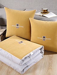 cheap -Pillow Quilt Multifunction Washed Cotton Colorful Embroidered Bear Car Purpose Cushion Office Nap Pillow Folding Blanket Sofa Pillow Air Conditioning Quilt
