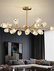 cheap -LED Pendant Light Luxury Modern Chandelier 64/84/90/100 cm Sputnik Design Copper Formal Style Sputnik Brass Modern Nordic Style 220-240V 110-120V