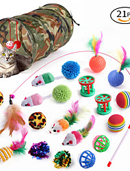cheap -28PCS Interactive Toy Ropes Cat Toys Set Cat Pet Exercise Releasing Pressure Plastic & Metal Gift Pet Toy Pet Play