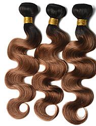 cheap -Ishow 3 Bundles Human Hair Weaves 8A Quality Hair Color Body Wave 1B 30# Hair Curtain 100% Human Peruvian Wig 3 Pieces Combination Set 10-24 Inch