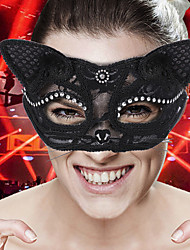 cheap -Cosplay Halloween Props Adults' Women's Halloween Halloween Halloween Masquerade Festival / Holiday Other Material White / Black Women's Easy Carnival Costumes Solid Color / Mask