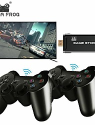 cheap -DataFrog 4K HD Video Game Console For PS1/GBA Classic Retro TV Game Console 10000 Games 2.4G Double Wireless Controller