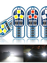 cheap -10PCS T10 W5W Led Bulbs 3030 SMD Canbus 168 194 6000K White Signal Lamp Dome Reading License Plate Light Car Interior Light Auto
