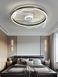 cheap -LED Ceiling Fan Light 50 cm Dimmable Ceiling Fan Black Gold Aluminum Artistic Style Modern Style Stylish Brushed Electroplated LED Nordic Style 220-240V 110-120V