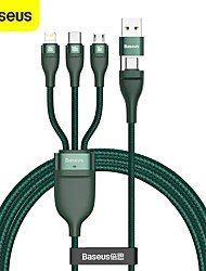 cheap -BASEUS Micro USB Lightning USB C Cable All-In-1 Braided High Speed 5 A 1.2m(4Ft) Nylon TPE Aluminium Alloy For Macbook iPad Samsung Phone Accessory