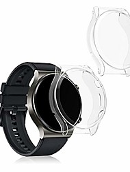 cheap -kwmobile case compatible with huawei watch gt 2 pro (set of 2) - smart watch/fitness tracker cover - transparent