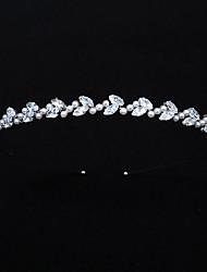 cheap -Retro Sweet Imitation Pearl / Rhinestone / Alloy Crown Tiaras / Headbands with Faux Pearl / Crystal / Rhinestone / Split Joint 1 PC Wedding / Party / Evening Headpiece