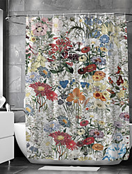 cheap -Multicolor Shower Curtain Waterproof Fabric for Bathroom Home Decor Covered Bathtub Curtains Liner Includes With Hooks Polyester