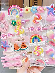 cheap -kids' Cute Cartoon Hairpins Jewelry Princess Headdress Girls Little Girls Side Clip Bb Hairpin Baby Hair Accessories
