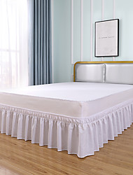 cheap -Basics Ruffled Bed Skirt Dust Ruffle Wrap Around Easy On/Off And Fit Wrinkle And FadeResistant Solid Color