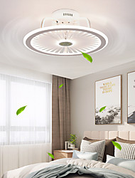 cheap -LED Ceiling Fan Light Modern Black White 48 cm Dimmable Circle Design Ceiling Fan PVC Classic Stylish Painted Finishes 220-240V 110-120V