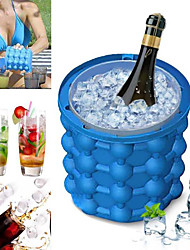 cheap -Silicone Ice Cube Maker Ice Cube Mold Tray Portable Bucket Wine Beer Cabinet Kitchen Tools Drinking Whiskey Freeze Cooler