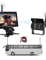 cheap -PZ607-W LCD Digital Screen Wireless Car Reversing Monitor / Reversing Radar Kit Waterproof / 360° monitoring for Car