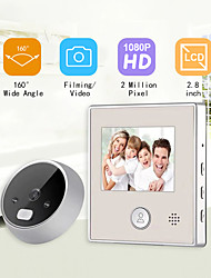 cheap -ESCAM C17 Intelligent Visual Peephole Electronic Peephole Doorbell with Internal Memory  Night Vision
