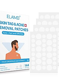 cheap -skin tag remover patches(144 pcs), acne remover patches,mole remover patches,suitable for all skin types with advanced and newly improved formula, covers and conceals tags, dries immediately